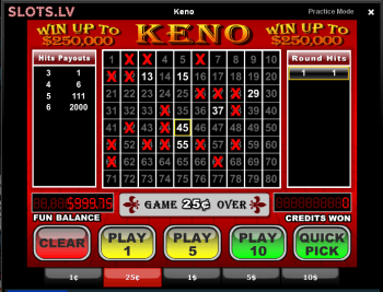 Slots.lv Online Casino - Keno