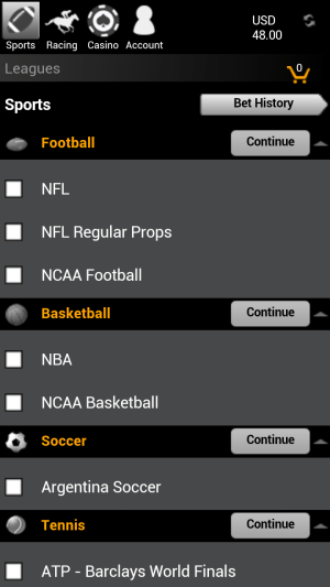 WagerWeb Mobile Site - WagerWeb Sportsbook Review