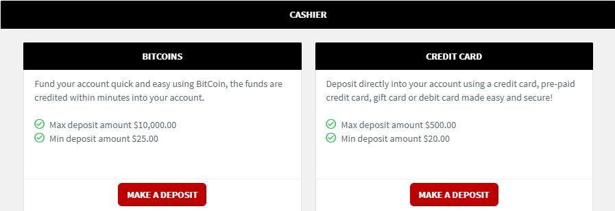 WagerWeb Deposit