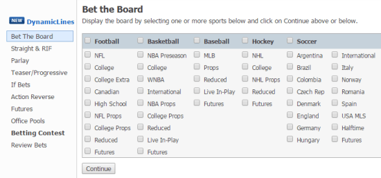SportBet Interface