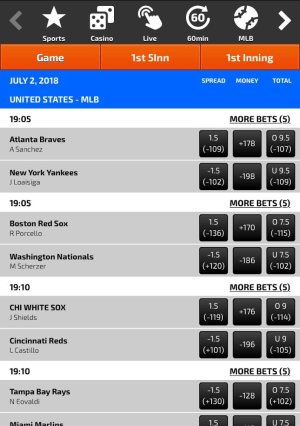 GTBets Mobile Site